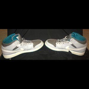 66b236b34ecc Jordan Shoes - Nike Air Jordan 1 High Low Mid Gray White Teal Men